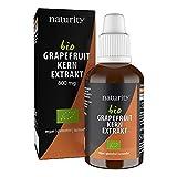 BIO Grapefruitkernextrakt, 1200 mg Bioflavonoide/50 ml, zertifizierte Bio-Qualität, vegan und in Deutschland hergestellt, leicht und sauber anzuwenden