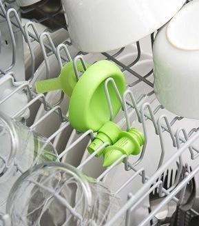 Zitronenspray kann man in die Spülmaschine legen